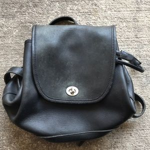 Authentic Coach black Leather BackPack